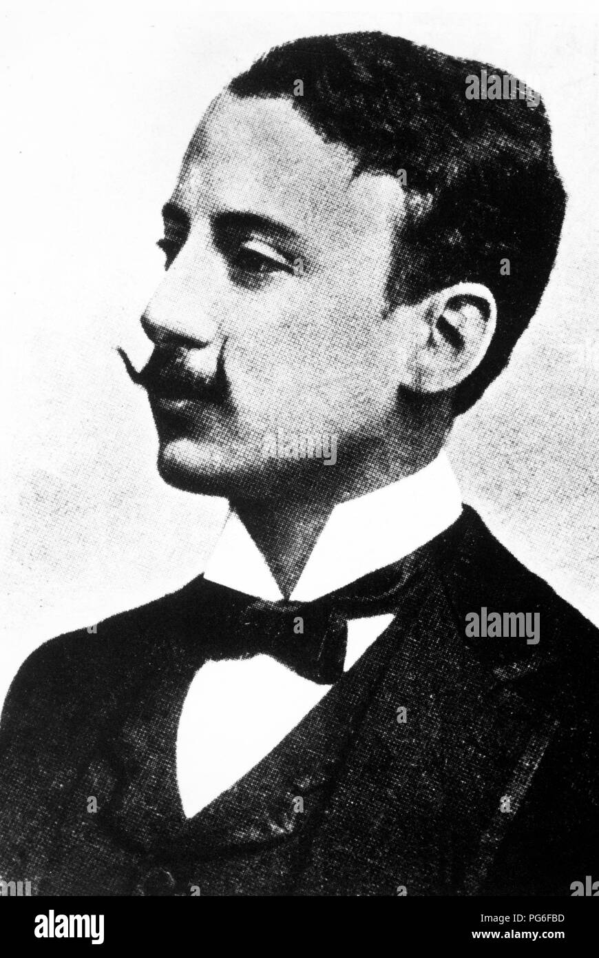 gabriele d'annunzio, 1903 - Stock Image