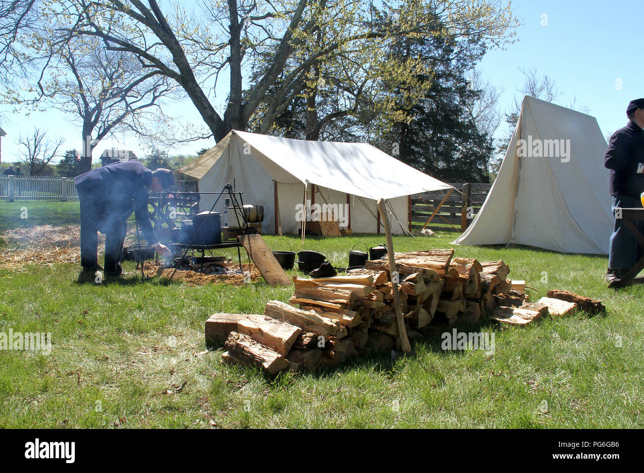 The Confederate Army camping during the American Civil War