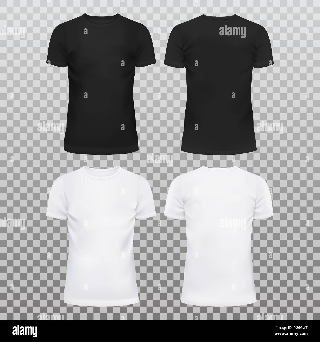 410b86a1164e84 Amazing mockup blank t-shirts for men and women. Summer clothing with  u-neck at front.