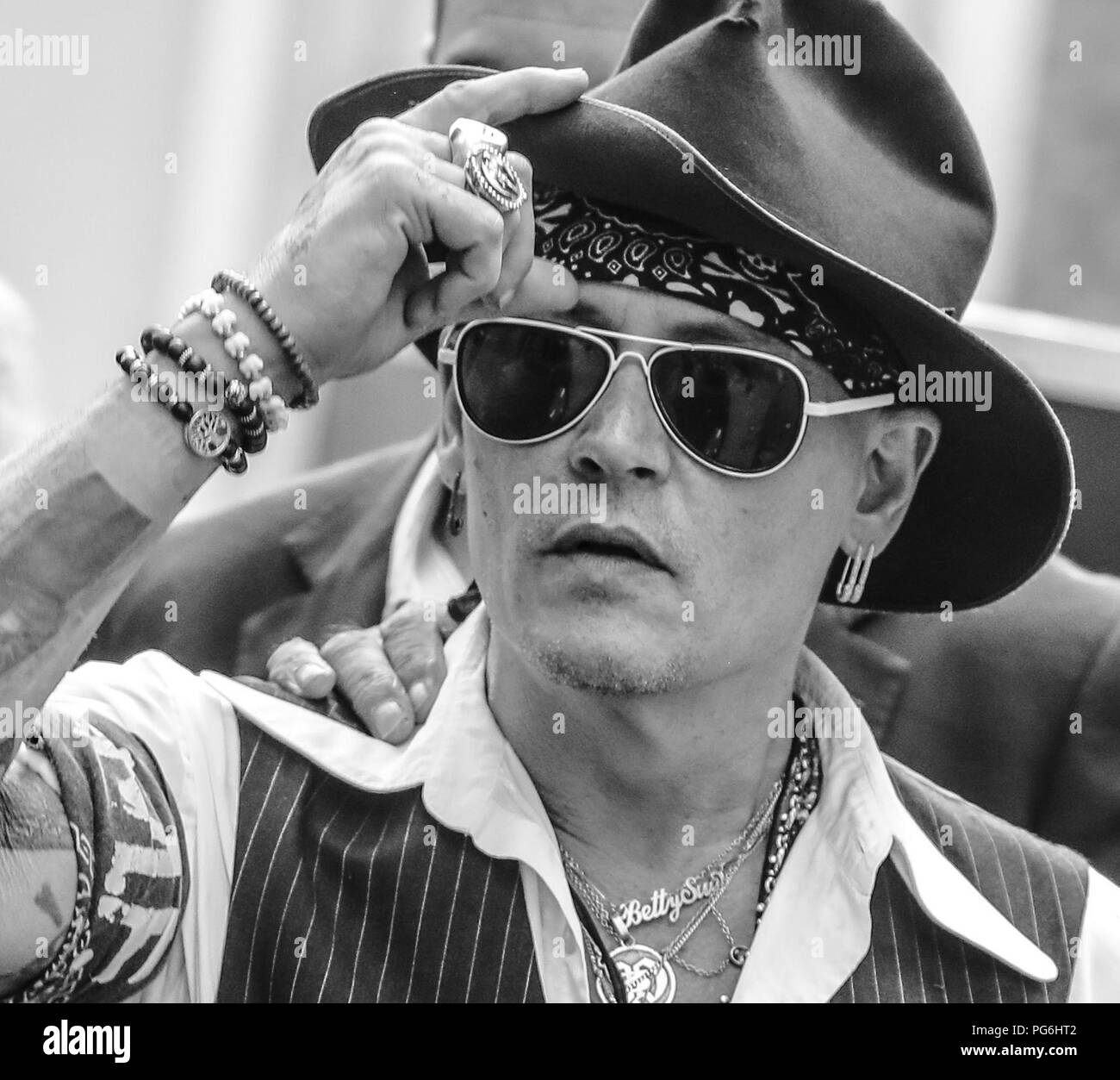 John Depp Black And White Stock Photos Images Alamy