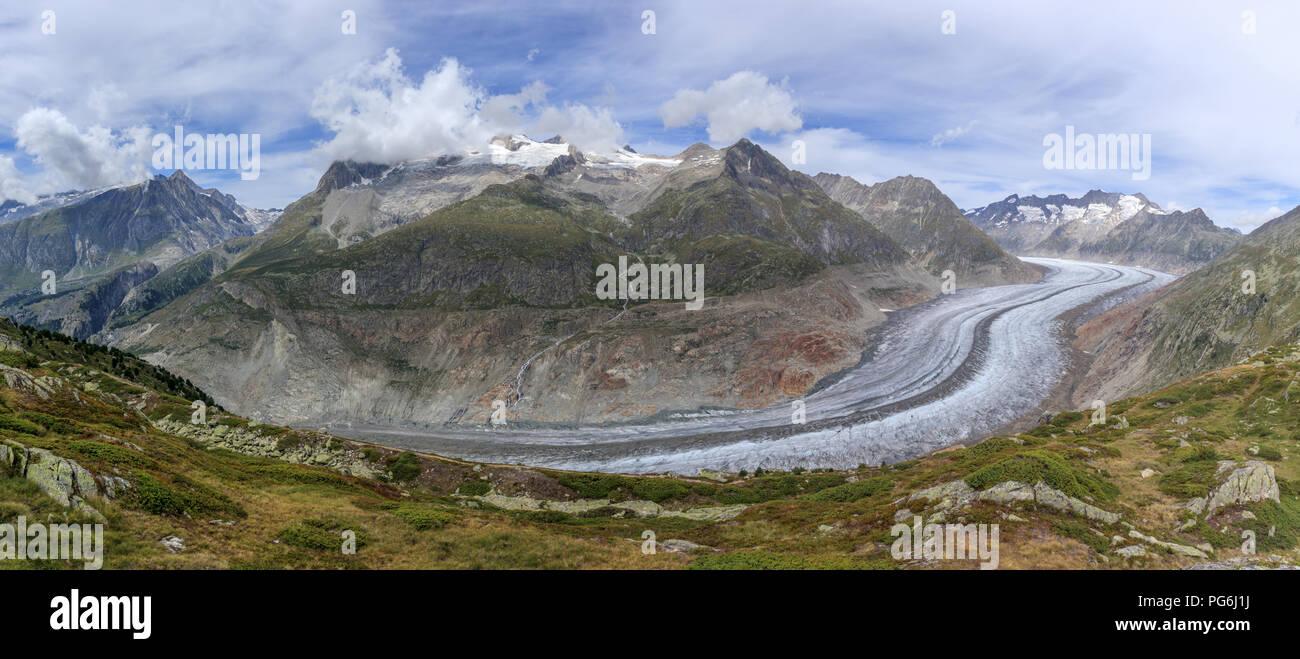 Aletsch glacier in Switzerland - Stock Image