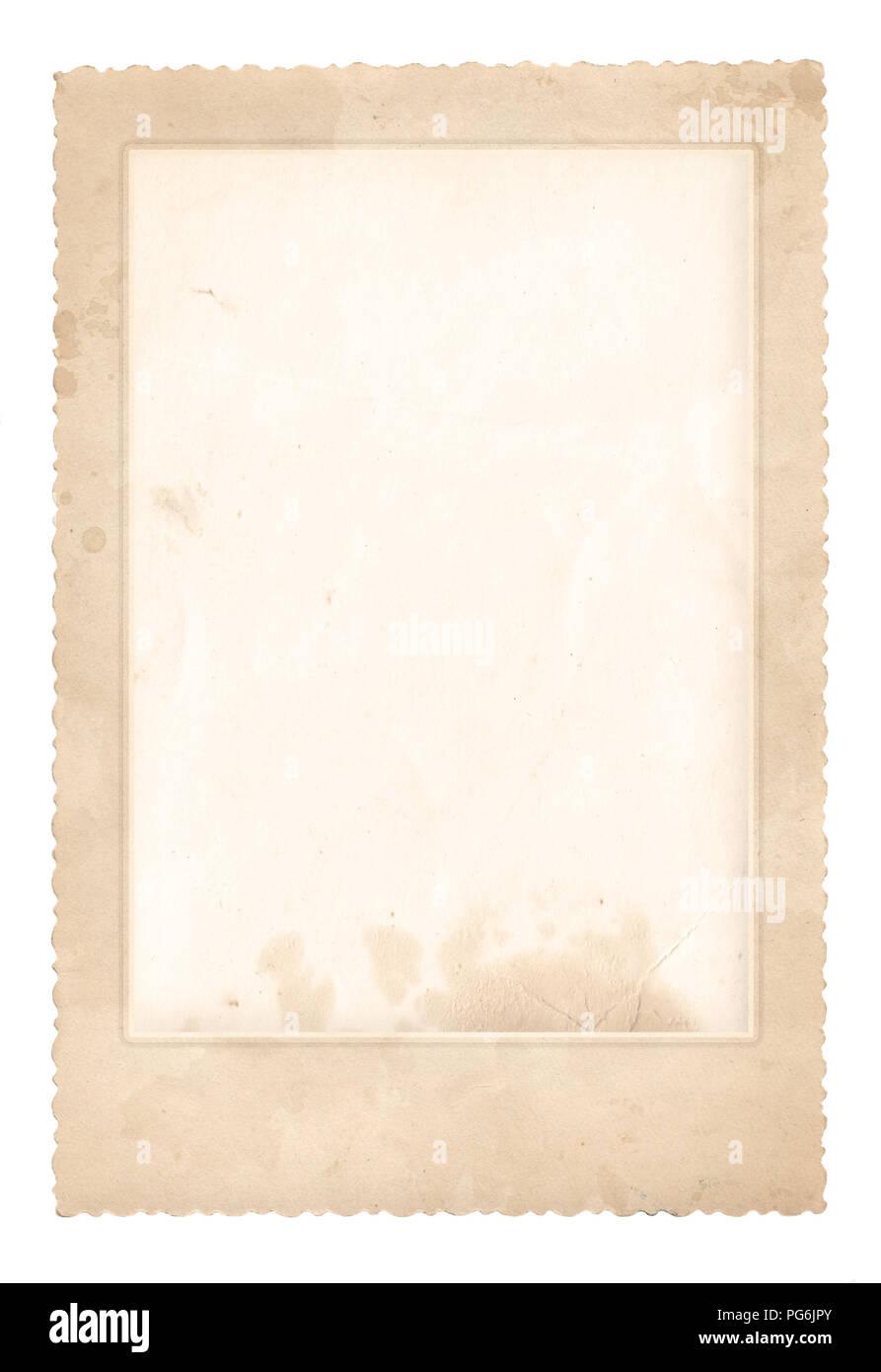 Old photo frame. Vintage paper. Retro card - Stock Image