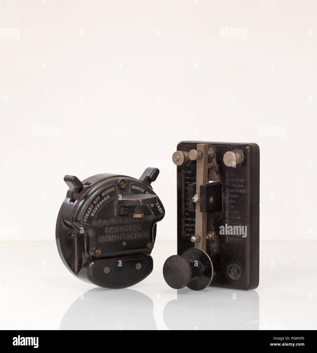 Vintage Bakelite Morse Code Keys Stock Photo: 216507514 - Alamy