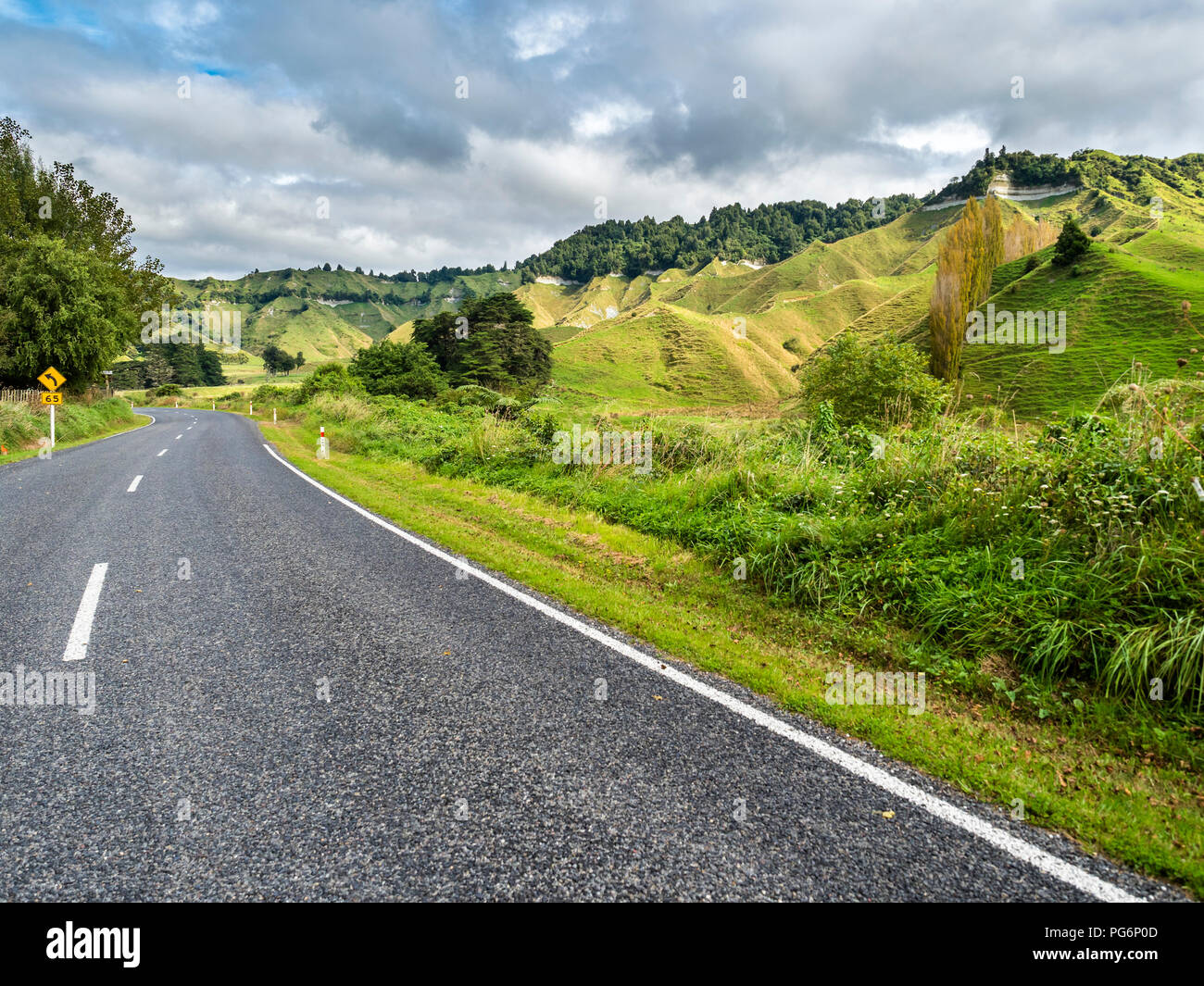 New Zealand, North Island, Taranaki, Forgotten World Highway - Stock Image