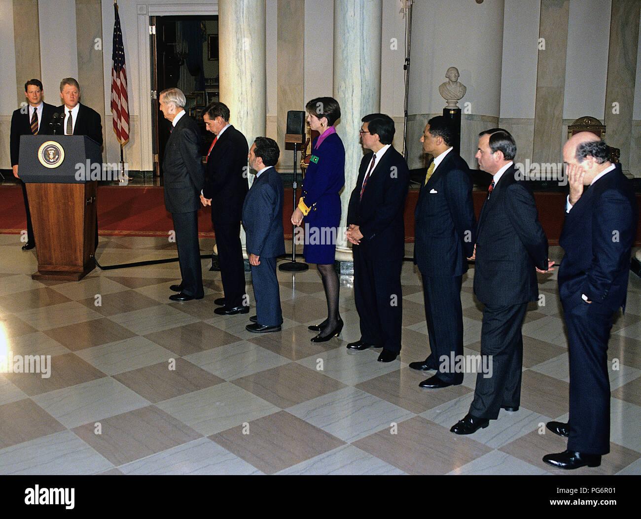 Washington Dc Usa November 17 1993 President William Jefferson