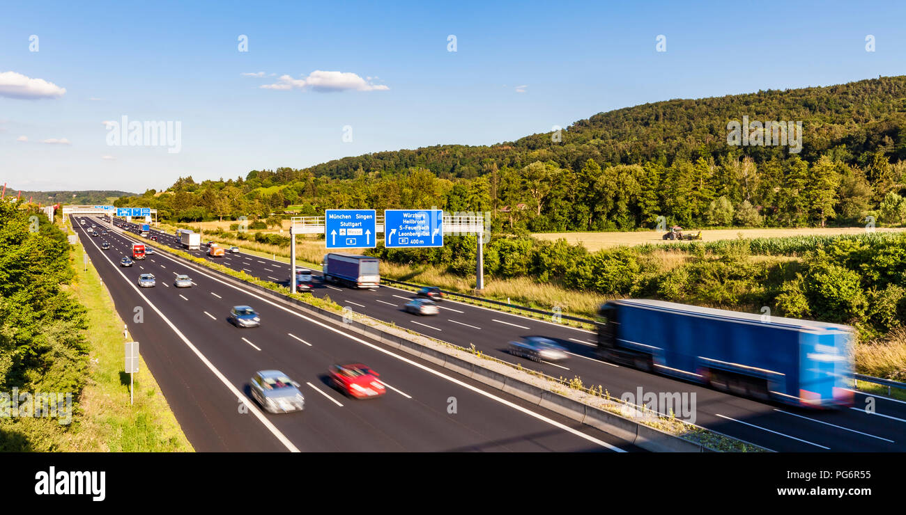Germany, Baden-Wuerttemberg,  Leonberg, motorway A 8 - Stock Image