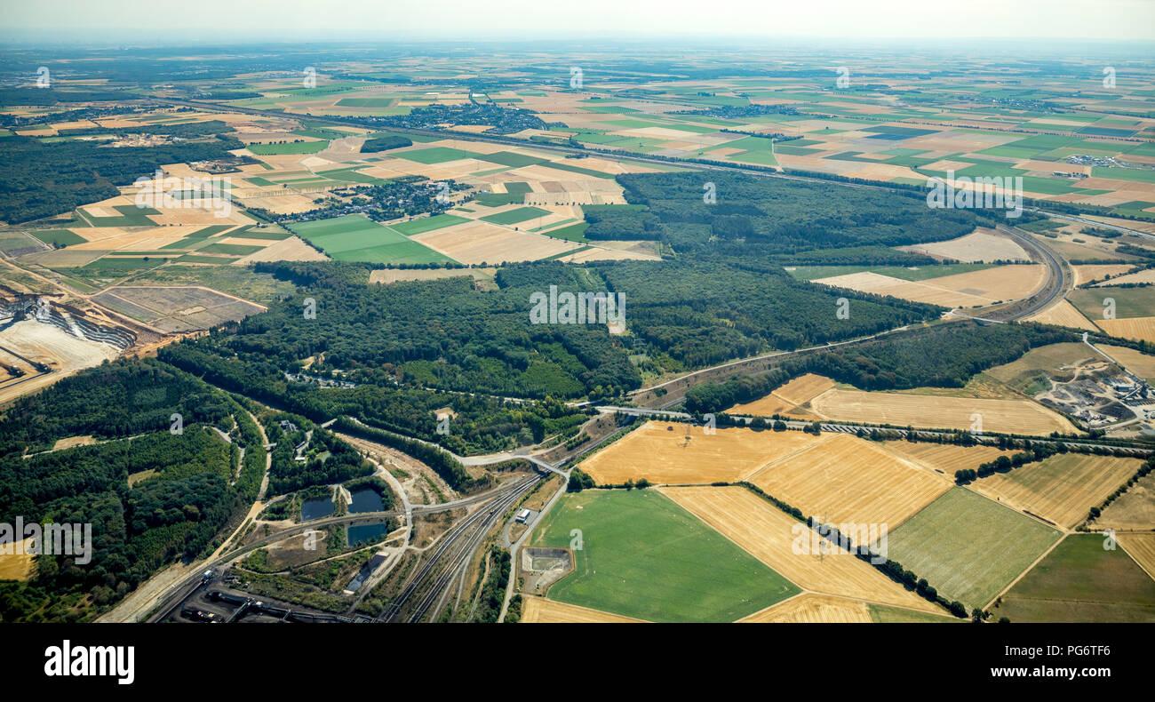 Ellen, Niederzier, Rheinland, Nordrhein-Westfalen, Deutschland, DEU, Europa, Luftbild, birds-eyes view, Luftaufnahme, Luftbildfotografie, Luftfotograf - Stock Image