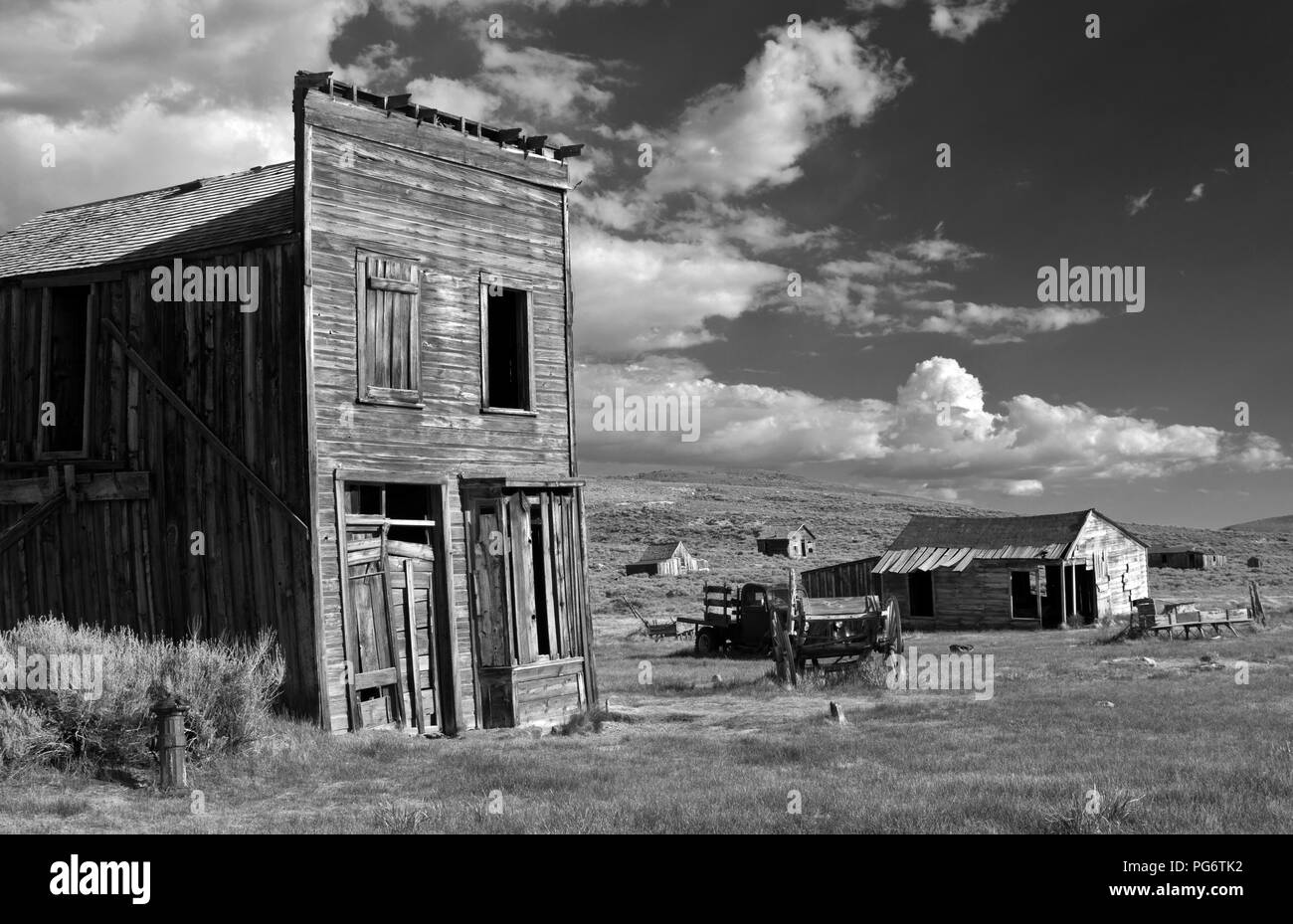 The Ghost Town of Bodie in Eastern California, United States. - Stock Image
