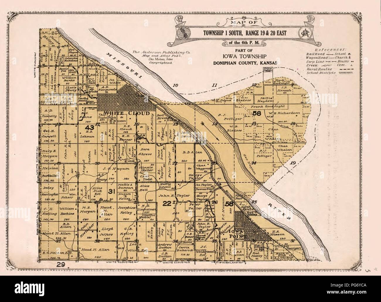 Atlas of Doniphan County, Kansas - containing maps of townships of on www.kansas map, kansas indians map, kansas wind map, kansas with capital, kansas dot maps, kansas map with cities only, st. marys kansas map, kansas shape map, cimarron kansas map, kansas cities population, kansas in us, kansas name, kansas info, kansas road map, kansas highway map pdf, kansas state on map, kansas wall map, kansas state physical map, kansas small town map, the kansas map,