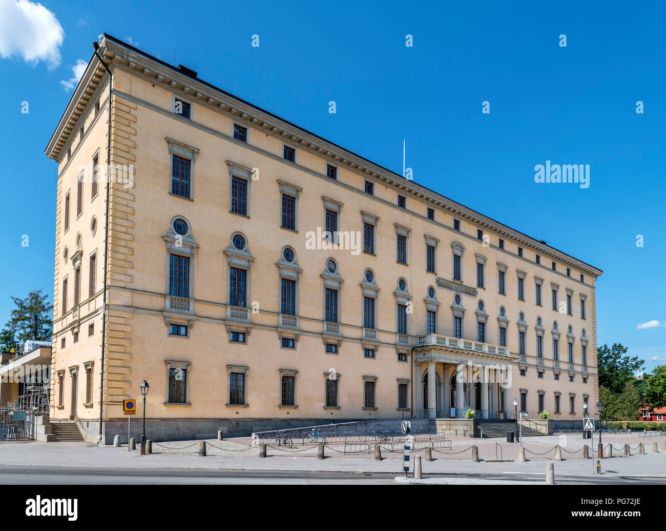 Carolina Redviva Library, Uppsala University, Uppsala, Uppland, Sweden Stock Photo