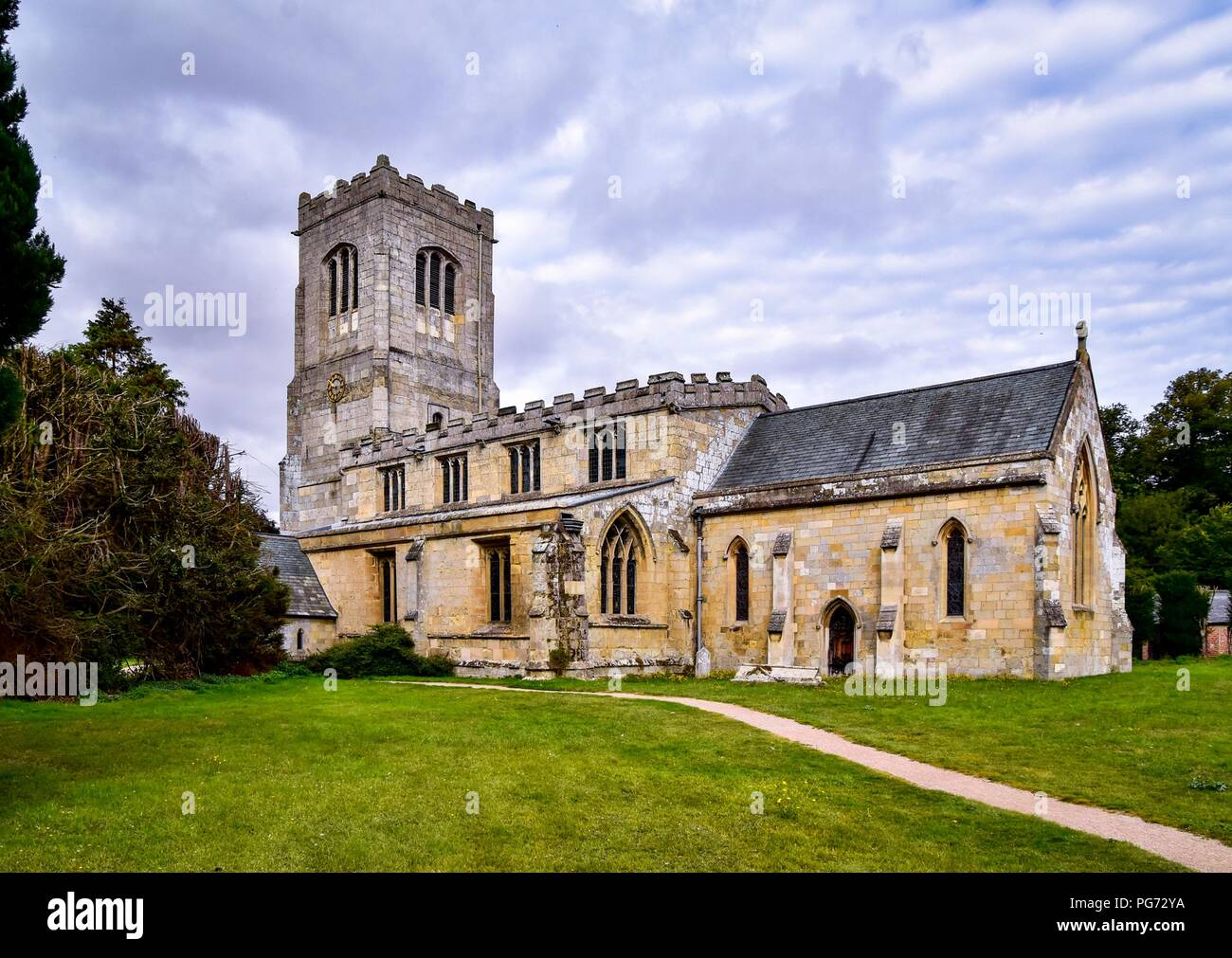 Burton Agnes Church Stock Photo