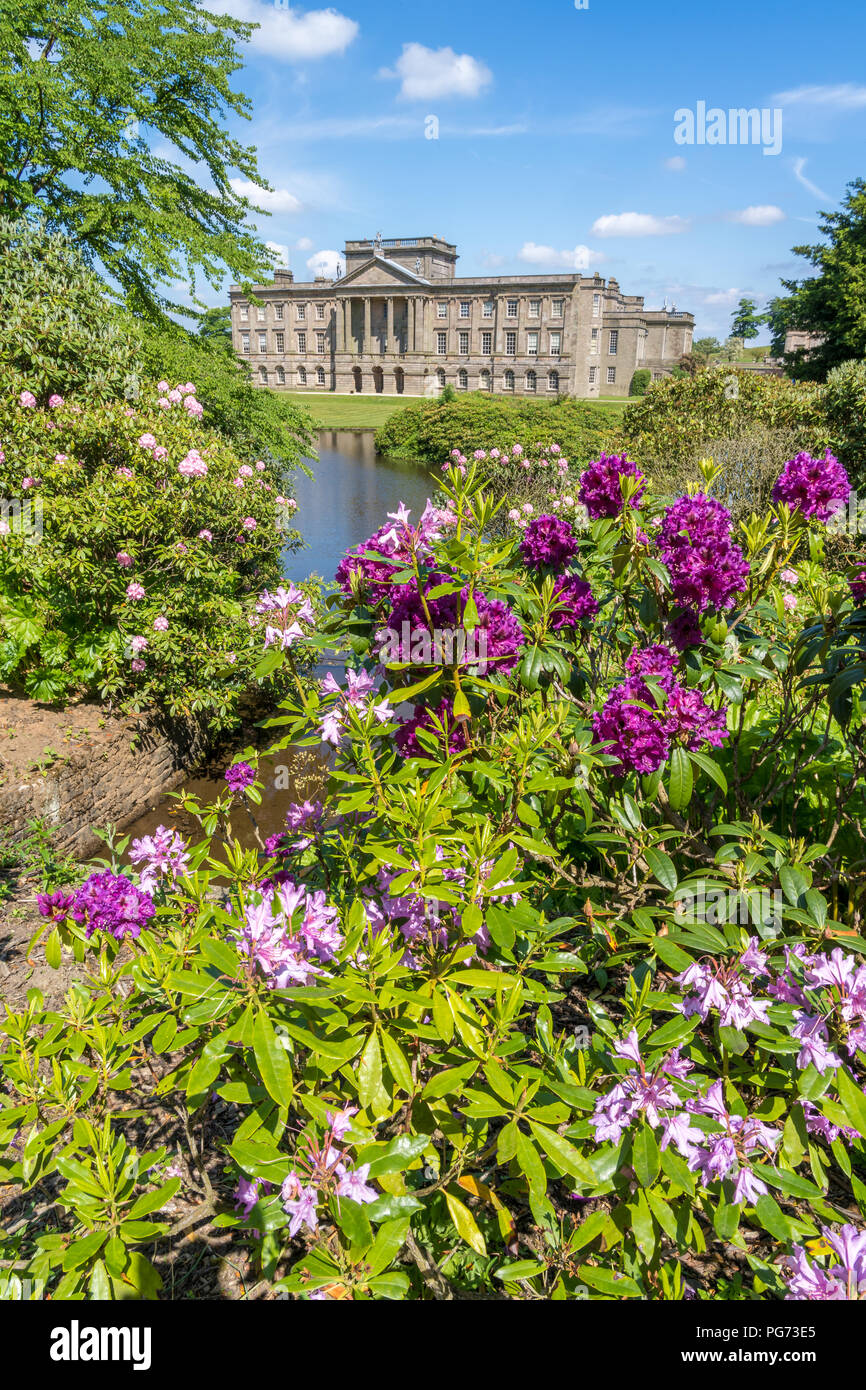 Lyme House at Lyme Park Cheshire in spring sunshine Stock Photo