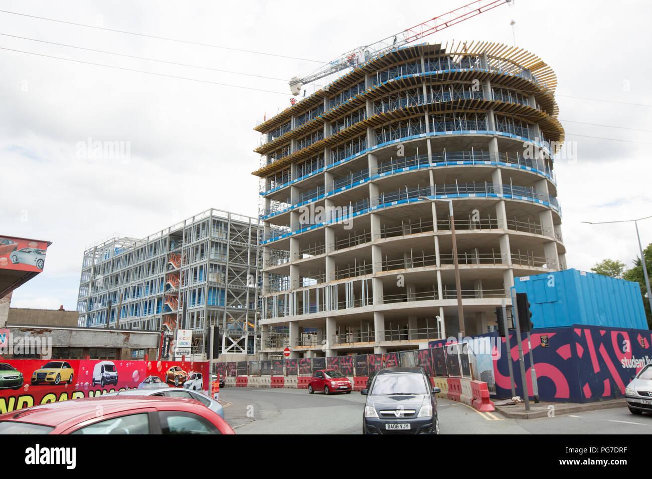 Caton Court student accomodation being built in Lancaster Lancashire England UK GB - Stock Image