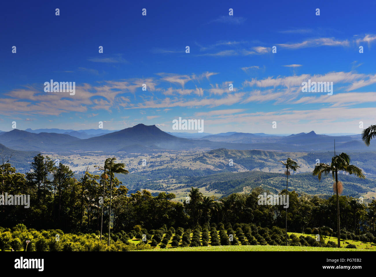 Beautiful landscapes in Queensland's Scenic Rim. - Stock Image
