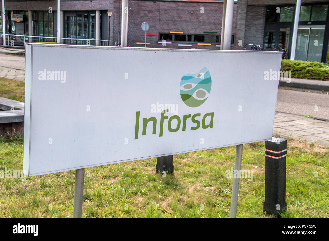Billboard From Inforsa Forensic Psychiatric Clinic At Amsterdam The Netherlands 2018 - Stock Image