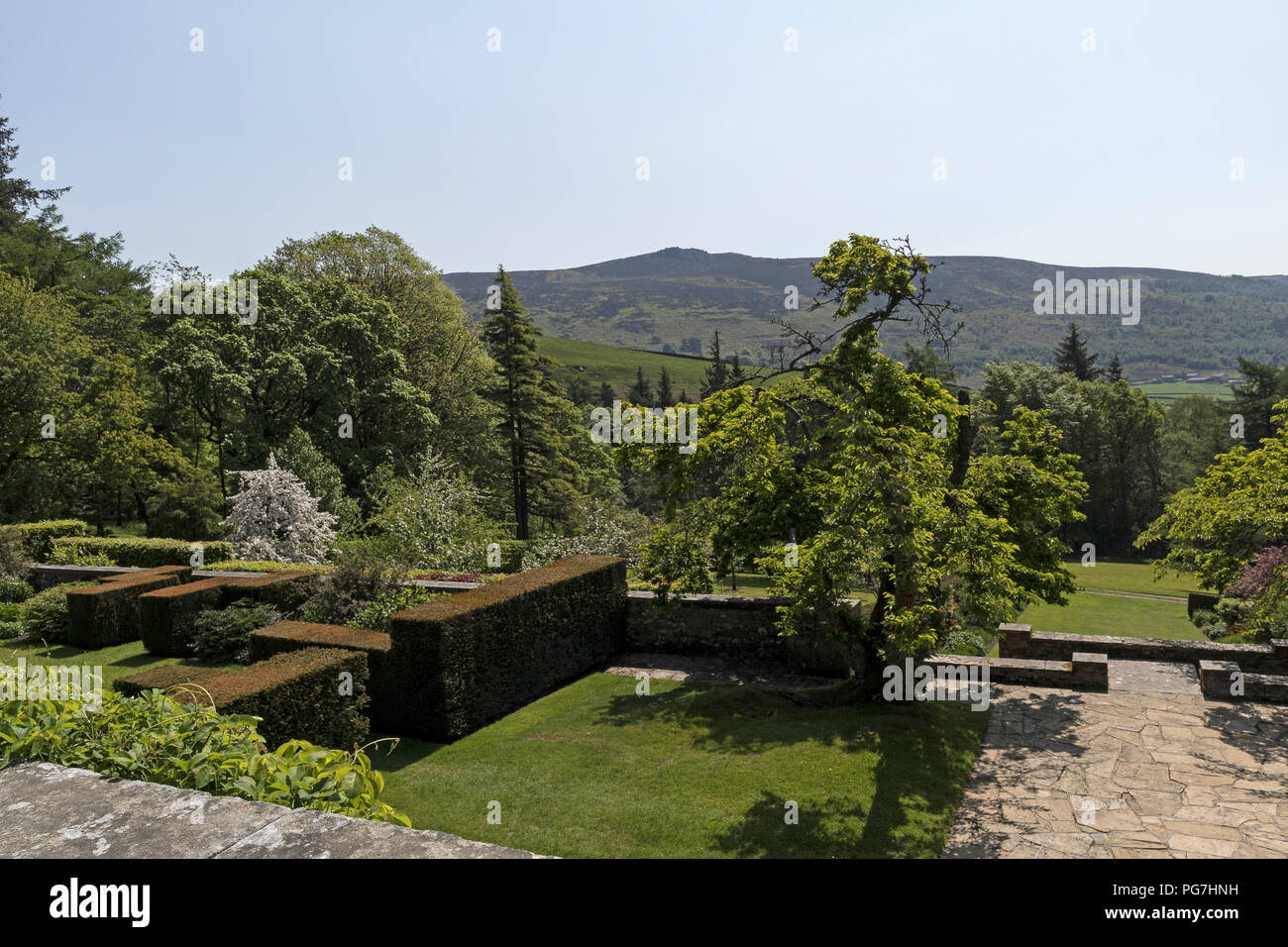 Parcevall Hall & Gardens, at Skyreholme in Wharfedale, Yorkshire Dales, UK - Stock Image