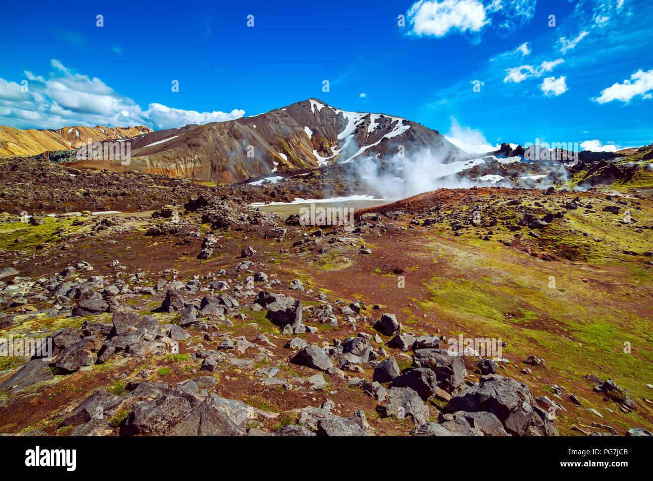 Landmannalaugar mountains, Iceland - Stock Image