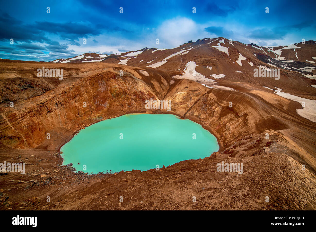 Viti blue lake - Stock Image