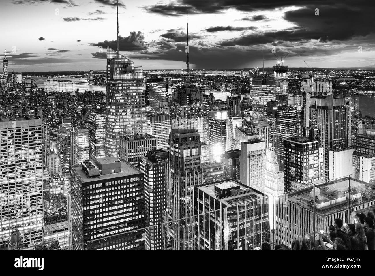 New York From Above Black And White Stock Photos Amp New