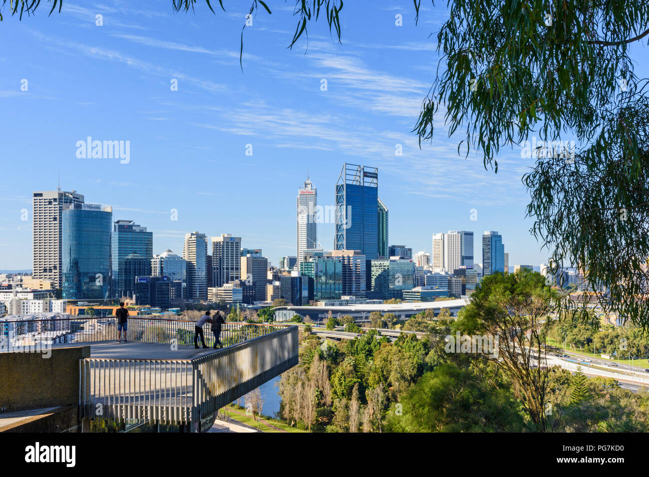 View of the Perth city CBD from Kings Park, Western Australia