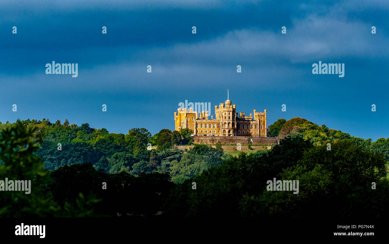Belvoir Castle, Leicestershire, England, UK  -  Belvoir Castle (which is pronounced beaver) is the ancestral home of The Duke and Duchess of Rutland - Stock Image