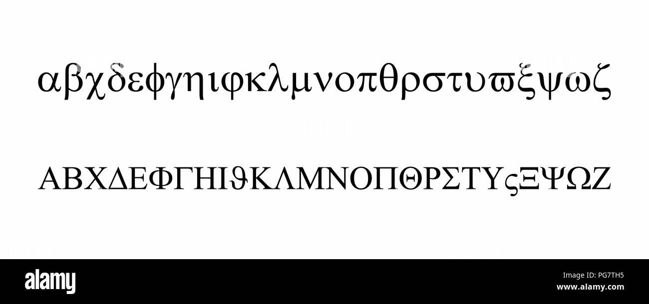 Greek alphabet set Stock Vector Art & Illustration, Vector Image