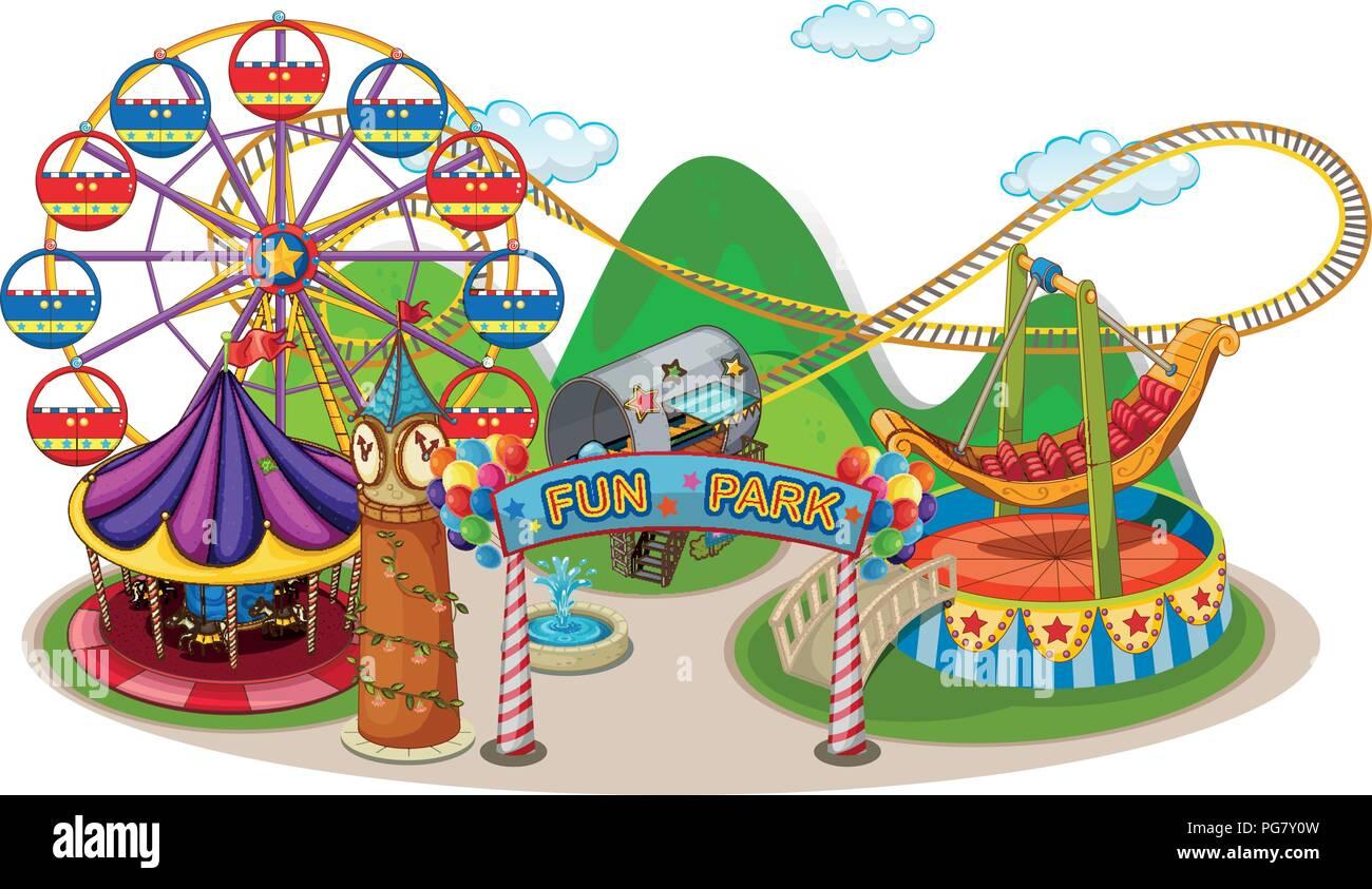 Amusement Park Clipart Carnival - Carnival Rides Clip Art - Free  Transparent PNG Clipart Images Download