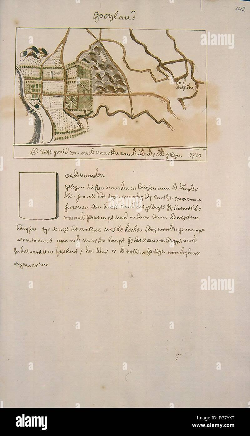 Atlas Schoemaker-WESTFRIESLAND-DEEL2-364-Noord-Holland, Het Gooi. Stock Photo