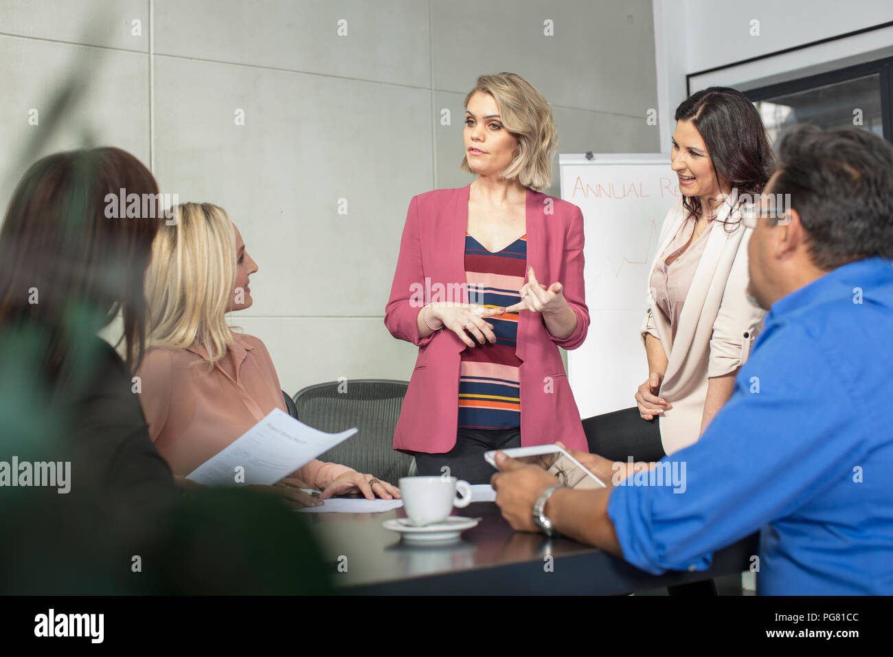 Businesswoman on a meeting in conference room Stock Photo