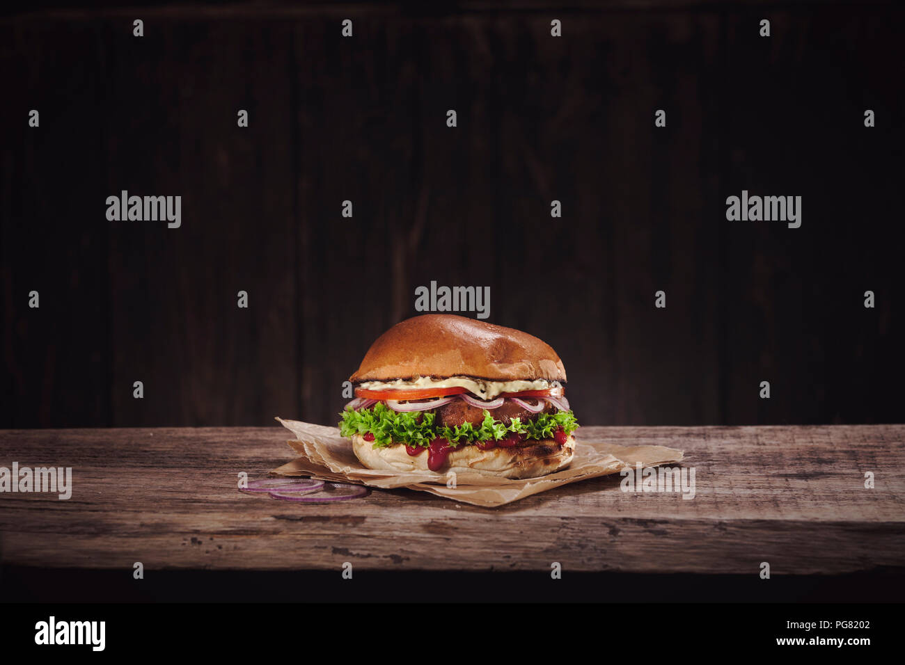 Veggie Burger Stock Photo