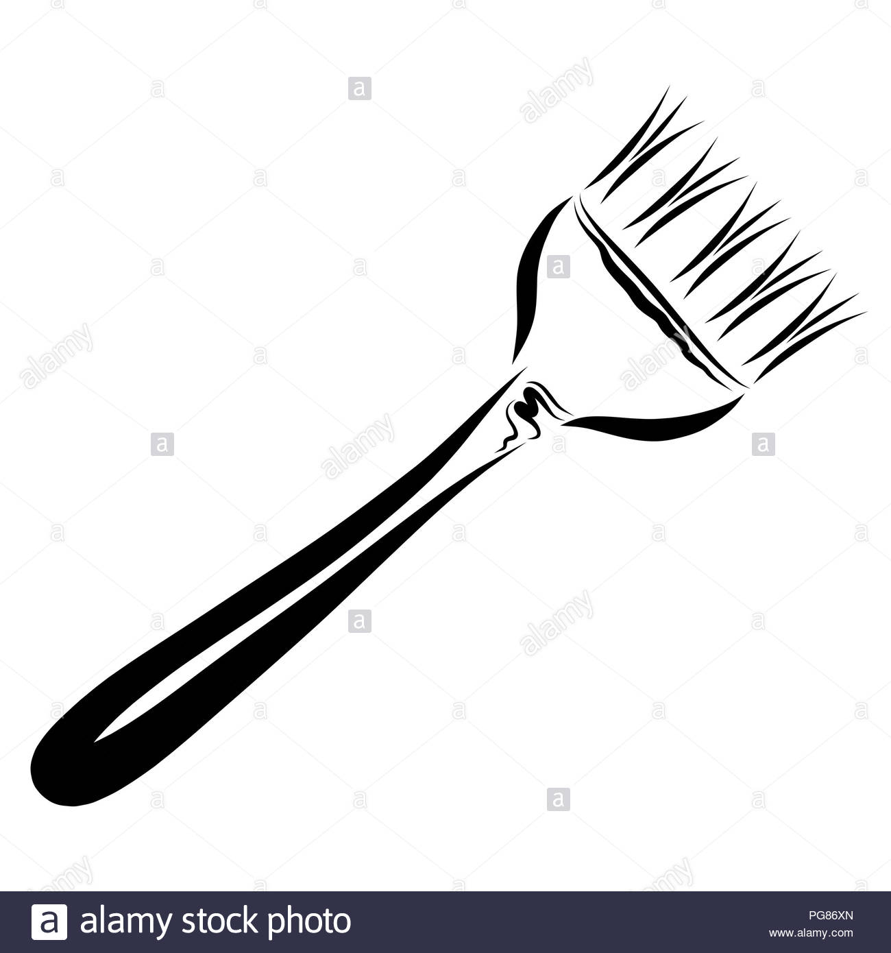 Paint Brush Hair Black and White Stock Photos & Images - Alamy