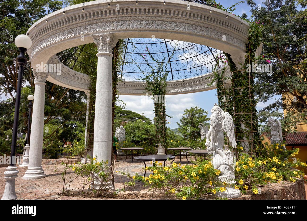 Garden Gazebo Built In An Ornate Round Stone Traditional Italian Style