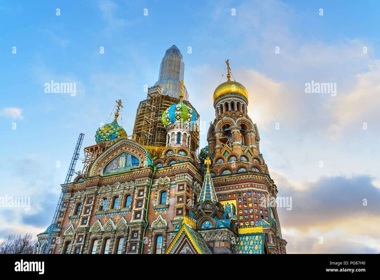 Church of the Savior on Blood in winter. Saint Petersburg, Russia - Stock Image