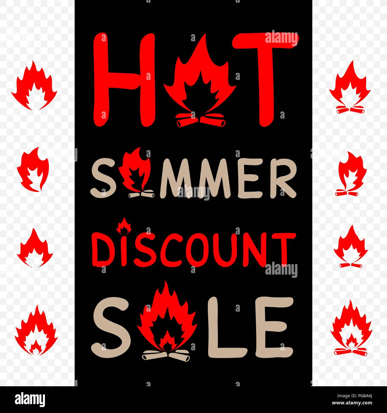 hot summer sale sign icon - Stock Vector