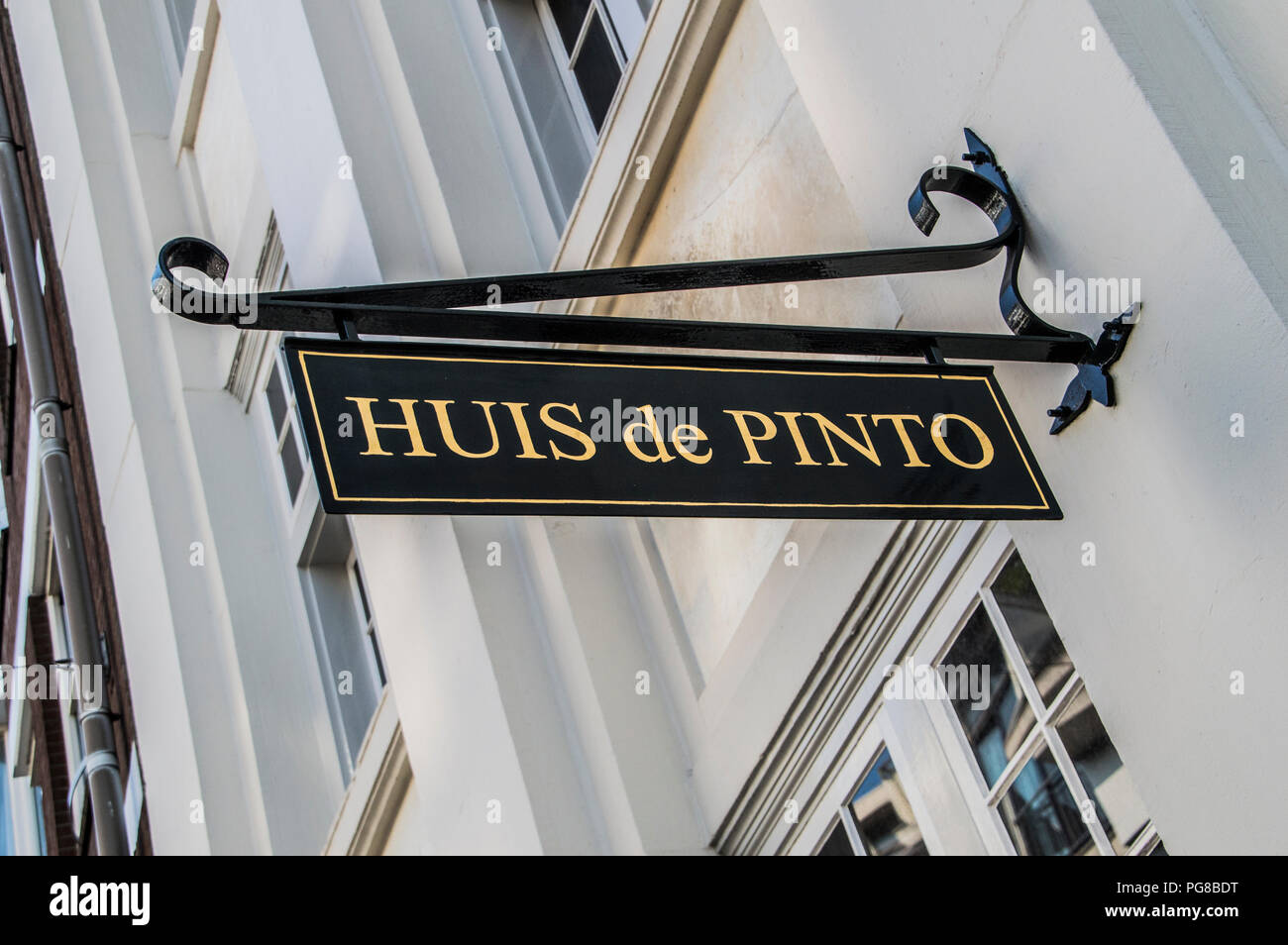 Billboard Huis De Pinto At Amsterdam The Netherlands 2018 - Stock Image