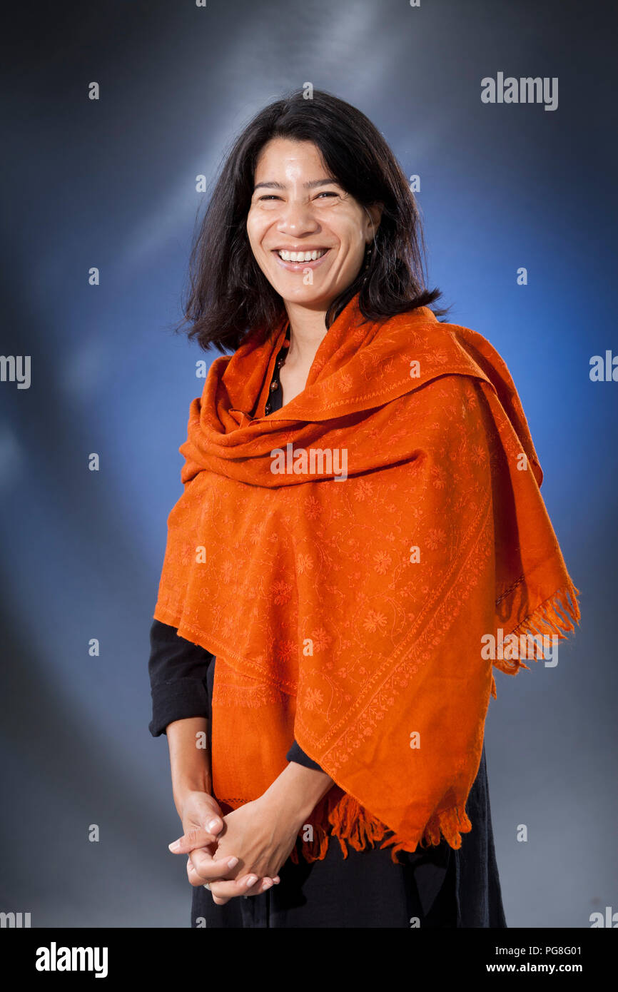 Edinburgh, UK. 24th August, 2018. Maya R. Jasanoff is an American academic. She serves as Coolidge Professor of History at Harvard University, where she focuses on the history of Britain and the British Empire. Pictured at the Edinburgh International Book Festival. Edinburgh, Scotland.  Picture by Gary Doak / Alamy Live News - Stock Image