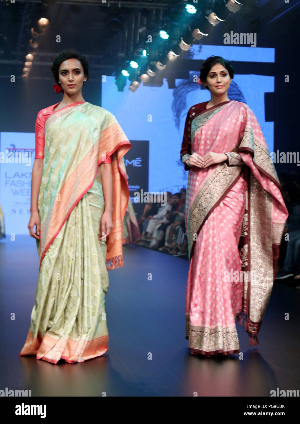 Mumbai India 24th Aug 2018 Models Seen Showcasing Designs 3rd Day Of The Lakme Fashion Week Winter Festive 2018 By Gaurang At Hotel St Regis In Mumbai Credit Azhar Khan Sopa Images Zuma Wire Alamy Live News