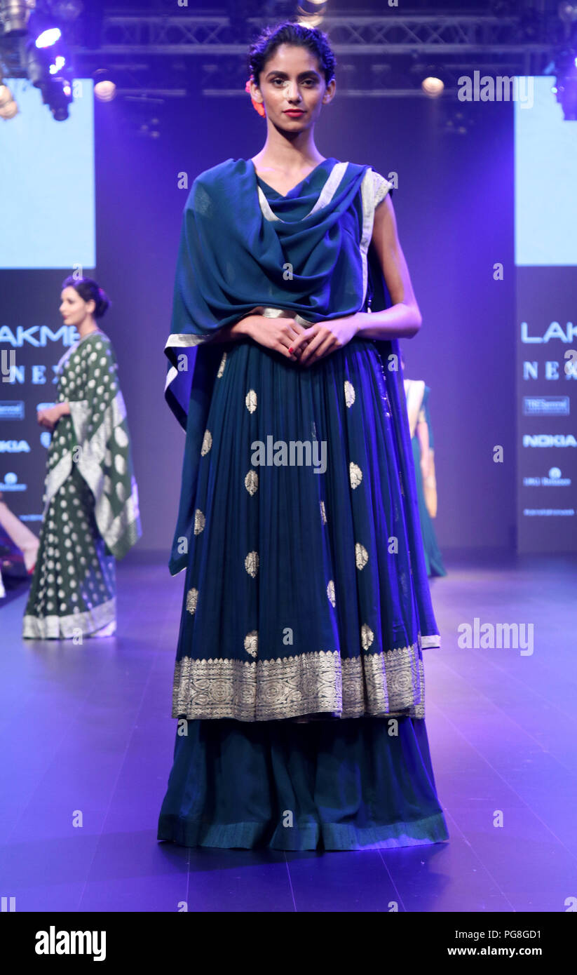 Mumbai India 24th Aug 2018 A Model Seen Showcasing A Design 3rd Day Of The Lakme Fashion Week Winter Festive 2018 By Gaurang At Hotel St Regis In Mumbai Credit Azhar Khan Sopa Images Zuma Wire Alamy