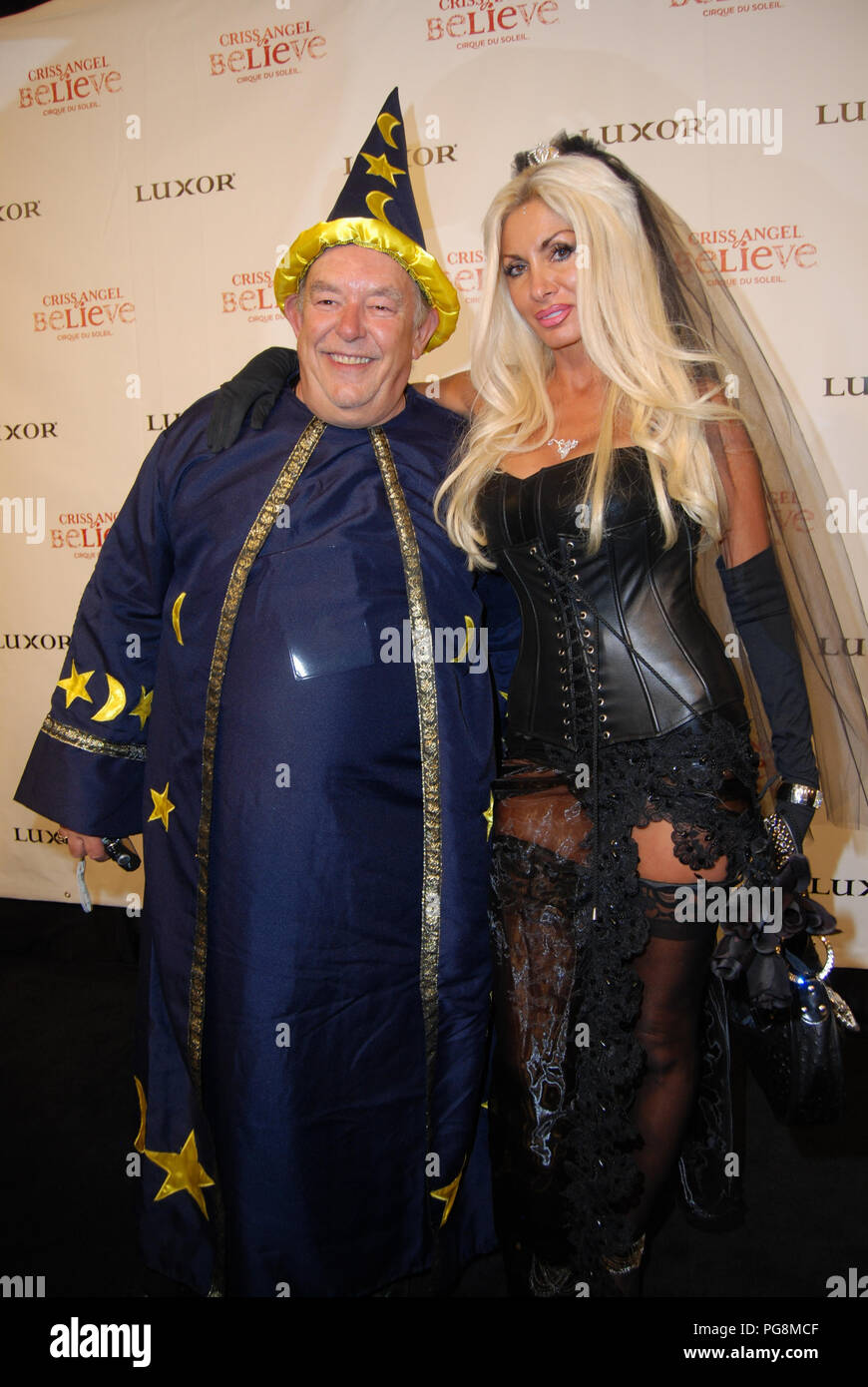 las vegas - october 31: robin leach, tina lines arrives at the gala