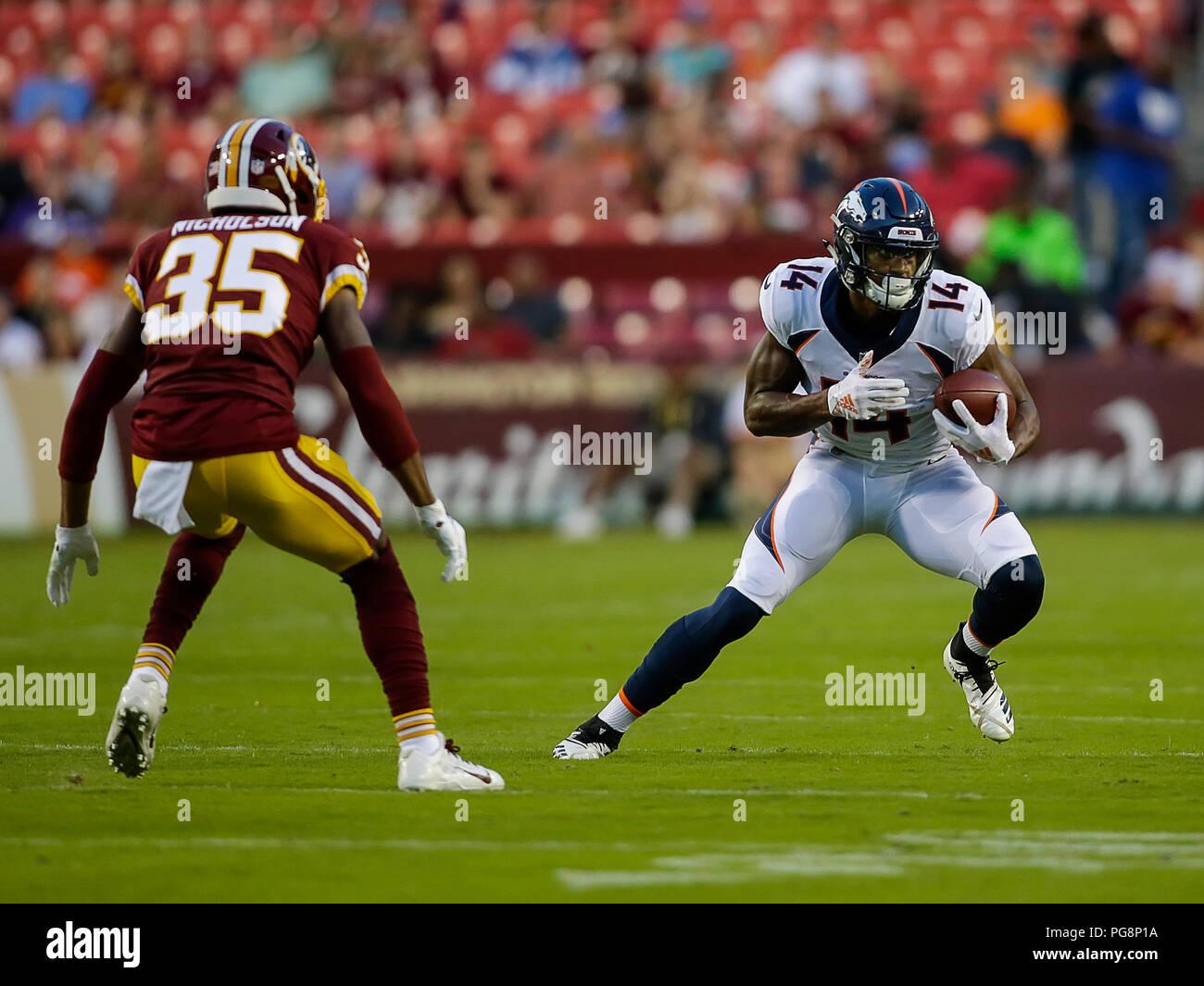 dc5a8464 Landover, USA. August 24, 2018: Denver Broncos WR #14 Courtland ...