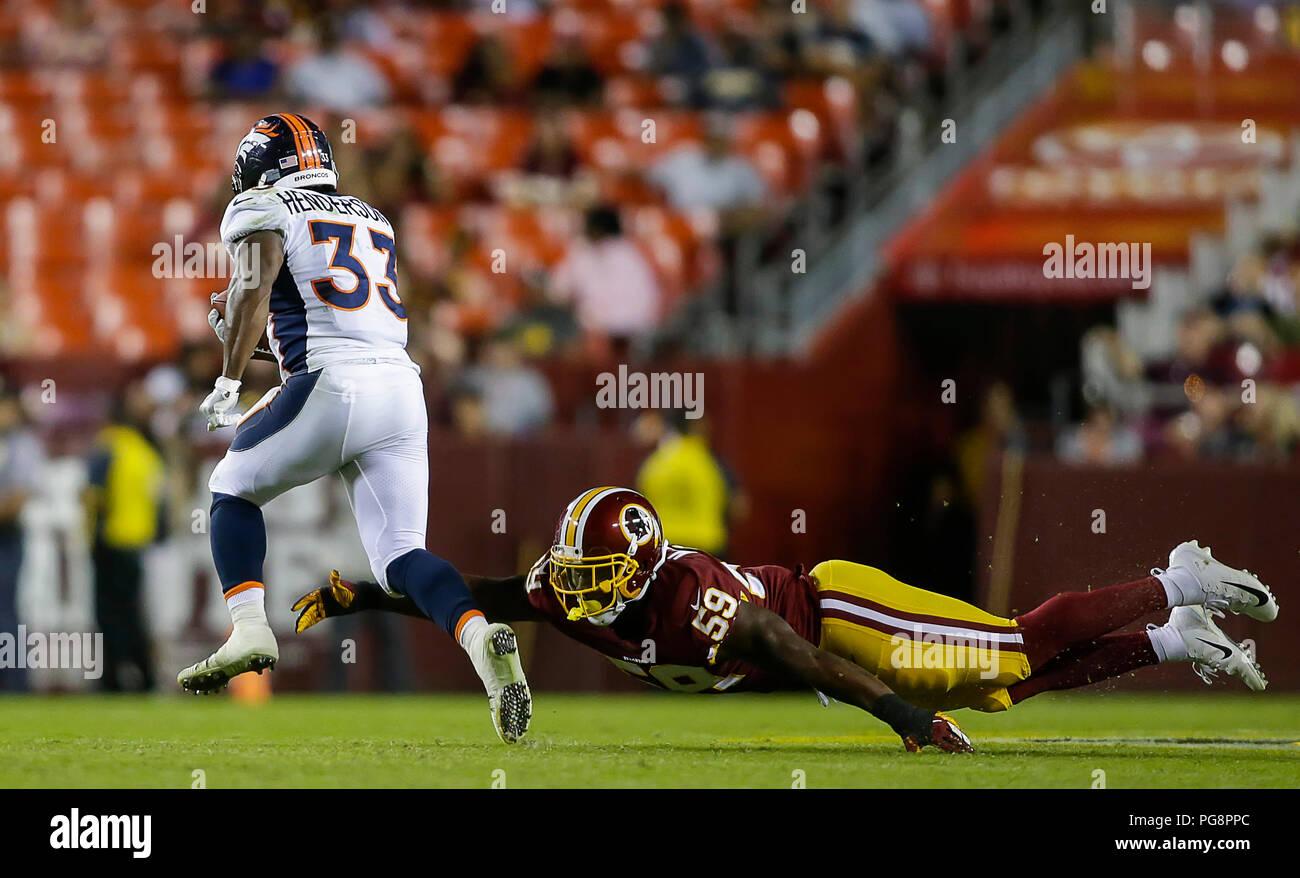 on sale 1c512 b9f7b Landover, USA. August 24, 2018: Washington Redskins LB #59 ...