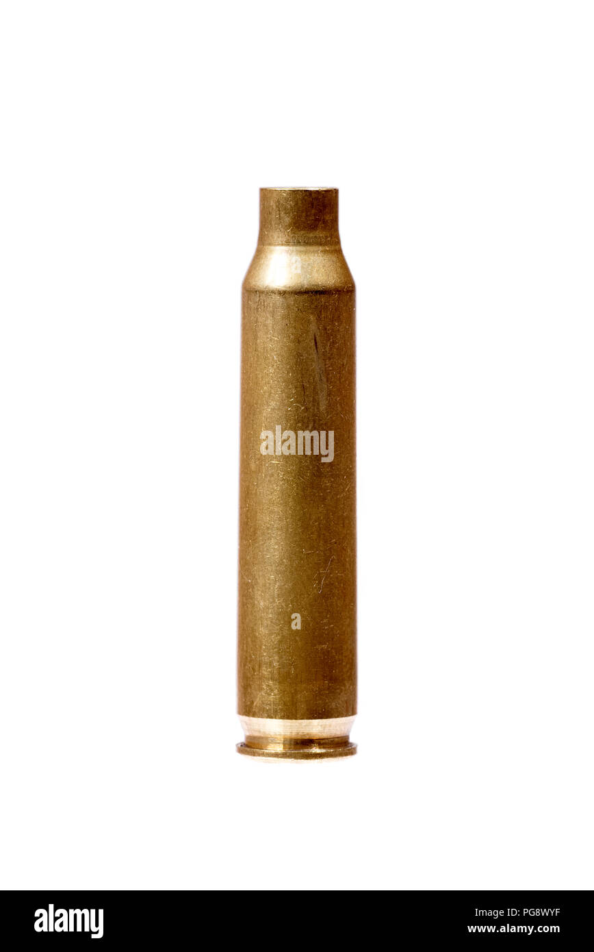 Close up of an empty bullet. High resolution photo. - Stock Image