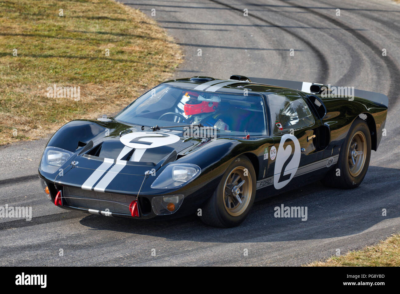 Ford Gt Mkii Le Mans Racer With Driver Robert Kauffman At The  Goodwood Festival