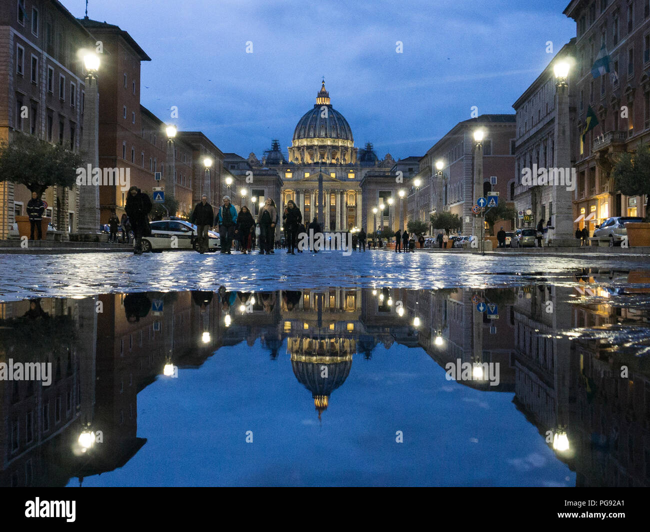 St. Peter's Basilica in vatican in Rome, Italy. Stock Photo