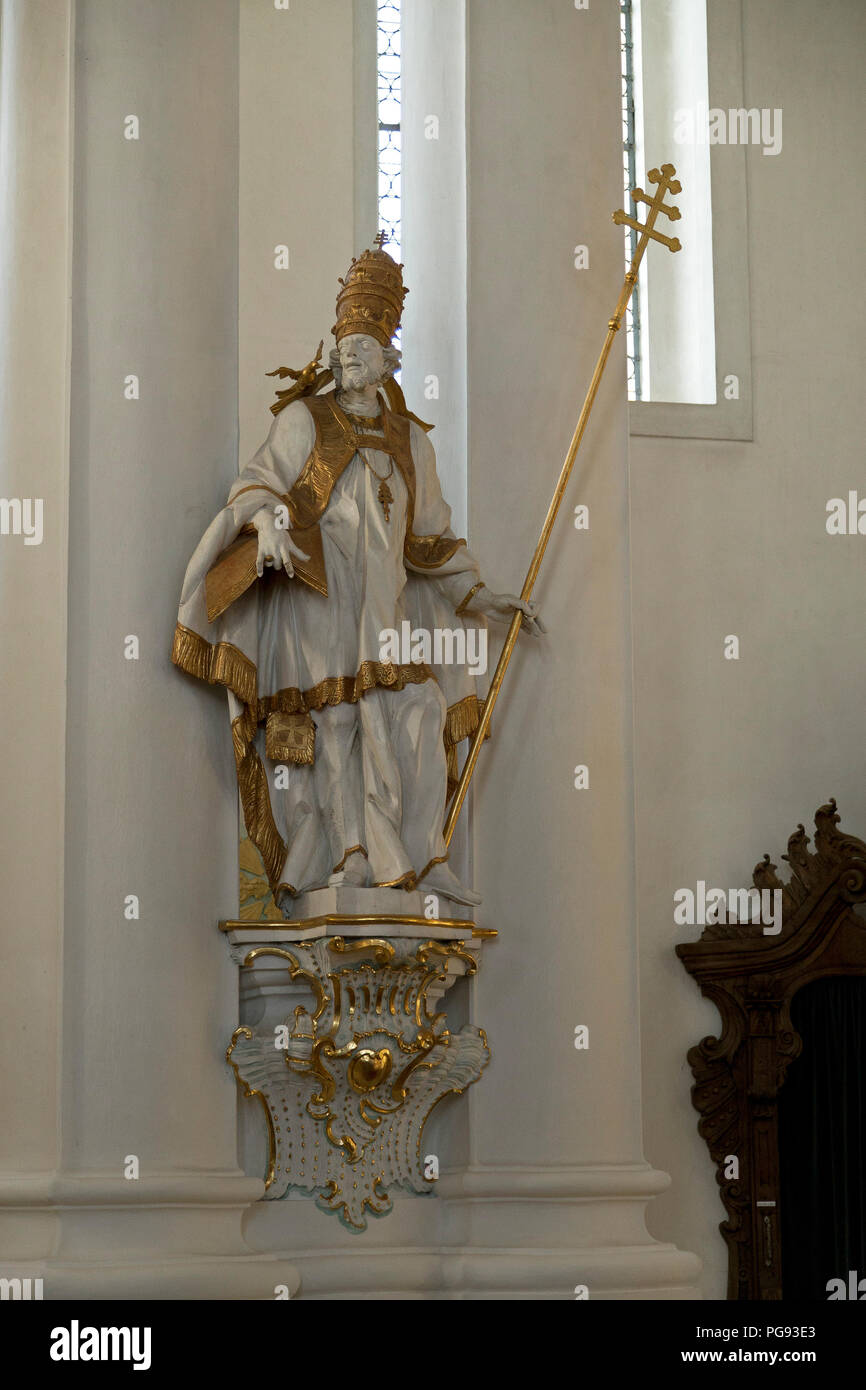 inside Wieskirche near Steingaden, Allgaeu, Bavaria, Germany - Stock Image