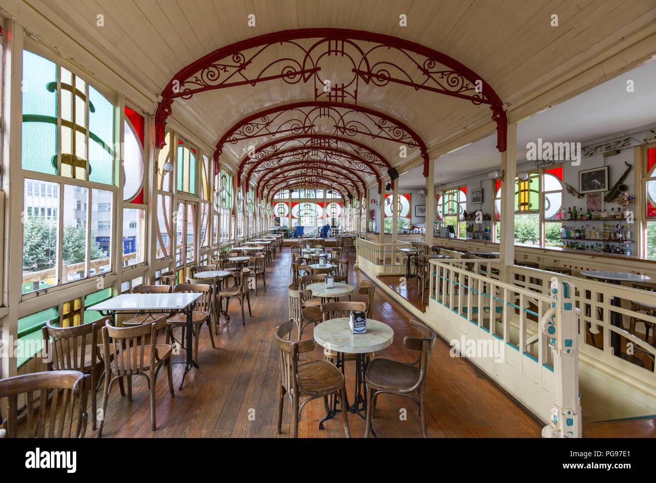 Art Nouveau Style Cafe Interior Stock Photos Art Nouveau
