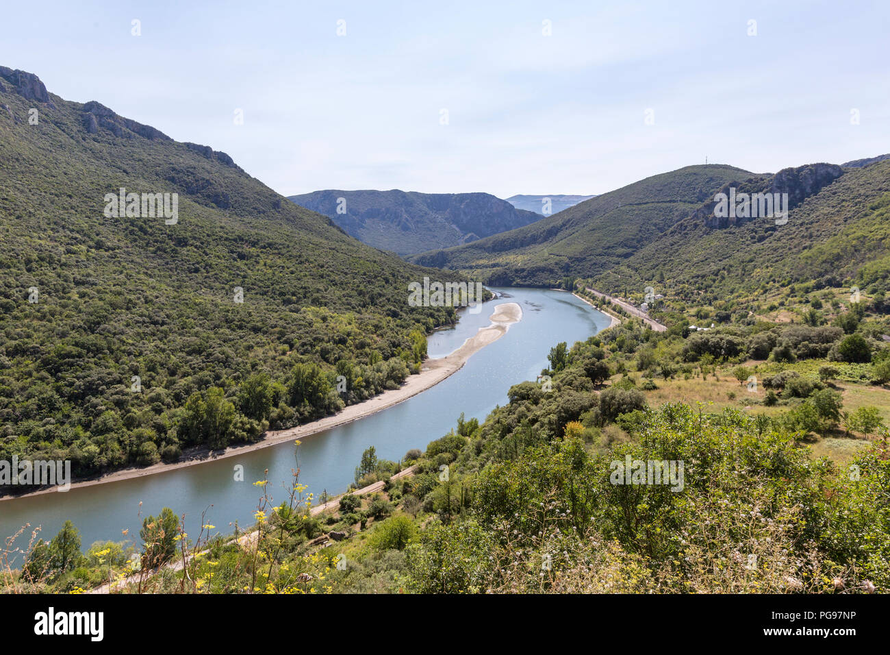 Miradoiro de Cobas, viewpoint,  overlooking the Sil river in, Ourense province, Galicia, Spain - Stock Image