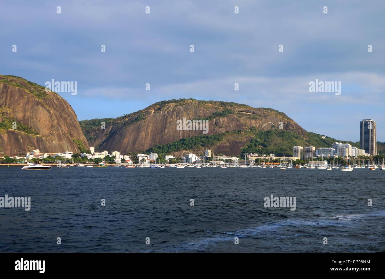 Urca Hill or Morro da Urca, the Natural Monument in the city of Rio de Janeiro, Brazil Stock Photo