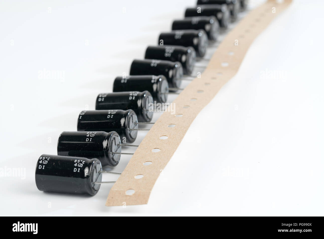 Capacitors. - Stock Image