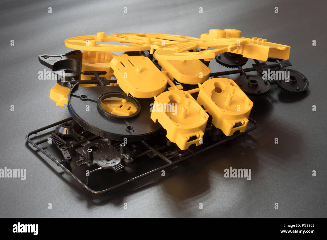 Injection moulding moulds. - Stock Image